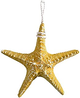Aquarium Household Fish Tank Decorations 6 pcs Artificial Resin Starfish with Rope, Beach Wedding Decorations Christmas Or...