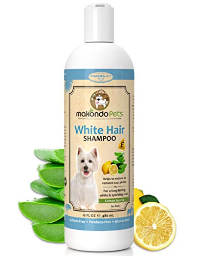 Dog Whitening Shampoo– for Dogs with White/Light Colored Hair/Coat/Fur–White Haired Pets Shampoo for Itching/Dry/Sensitive Skin–Biodegradable/Non Toxic/Vet Best Formula
