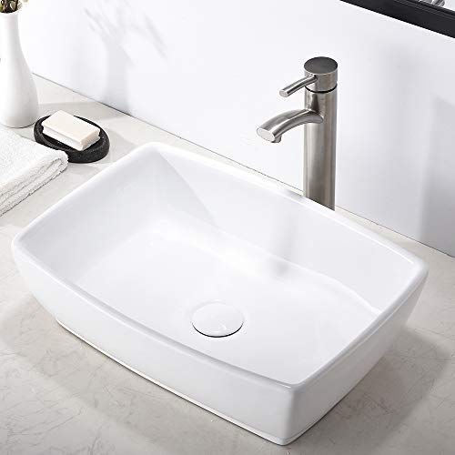 Comllen Modern Commercial Above Counter White Porcelain Ceramic 18.9