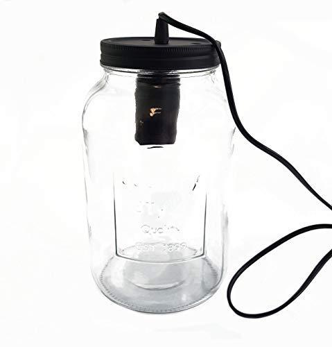 Deko Tischlampe im Glas - Einmachglas Lampe 28x15,5 cm - Tischleuchte Glaslampe