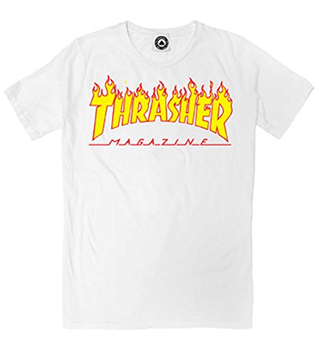 Thrasher Thrasher Flame T-Shirt Dark heather, Weiß Medium
