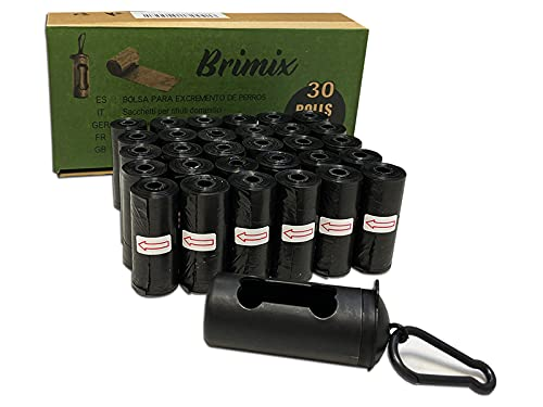 BRIMIX 450 BOLSAS PARA EXCREMENTOS DE PERRO CON DISPENSADOR. 30 rollos x 15 bolsas/rollo. Para...