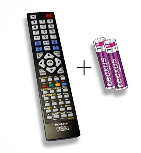 Ersatzfernbedienung speziell für SAMSUNG UE55HU7590L DLZE®-Edition inkl. Batterien