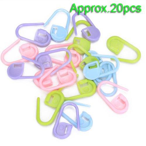 MANGO-20 piezas de plástico para hacer punto del ganchillo de bloqueo marcadores de la puntada, cierre de ganchillo, herramientas para hacer punto