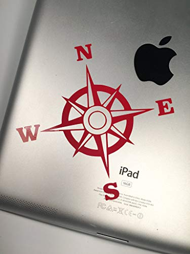 DKISEE MacBook Pro Decal - Compass Rose Vinyl Sticker Decal for Car, Decal for Window, Decal for Yeti, Vinyl Decal 6 inches