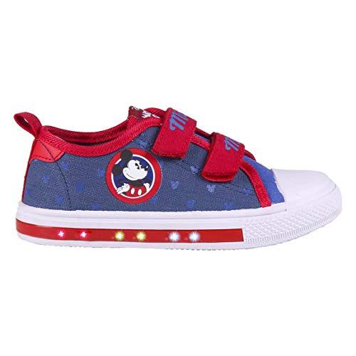 Cerdá 2300004706_T025-C56, Zapatillas Lona Niños de Mickey Mouse-Licencia Oficial Disney, Azul y Rojo, 25 EU