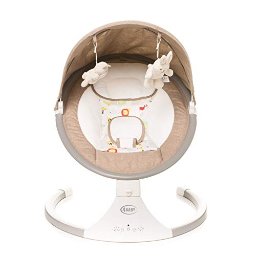 4BABY Columpio eléctrico para niños|Mecedora Bebe Columpio Bebe Balancin Bebe Amaca Bebe...