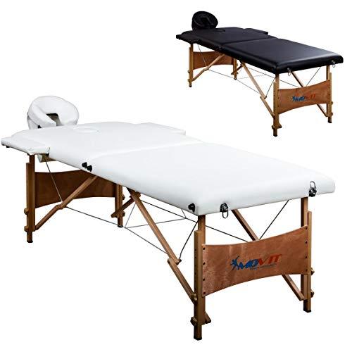 Movit® Mobile Massageliege inkl. Tasche, Kopf- und Armstützen, Vollholzgestell, Farbwahl, schadstoffgeprüft