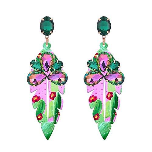 DJMJHG Pendientes de Gota para Mujer Pendientes Joyería de Moda Pendientes El Regalo más de Moda para el día de San ValentínLt Cactus