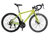 トリンクス(TRINX) 【ロードバイク】ダブルディスクブレーキ Shimano シマノ21Speed 軽量 アルミフレーム700C ディスクブレーキロードエントリーモデル TEMPO1.1-20 イエロー/グリーン/ブラック 540mm