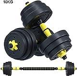 Pesos Pesos con barra libre determinado de Pesas Set for hombres y mujeres con la biela se pueden utilizar como Barra de gimnasio en casa Trabajo de Formación de salida de 10 kg / 22Lbs, 15 kg / 33 li