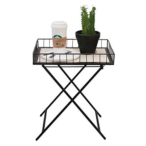 Klaptafel, tuintafel, eettafel, eenvoudige moderne mini-klep, woonkamer, balkon, draagbare smeedijzeren tafel