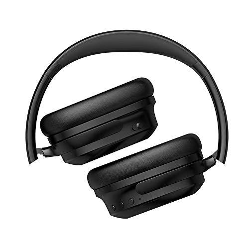 Montado en la cabeza de auricular inalámbrico, ANC activa de ruido Reducción de ruido CVC llamada inalámbrica Reducción auricular Bluetooth, auriculares con Servicios / Mic / conexión de cable for tel