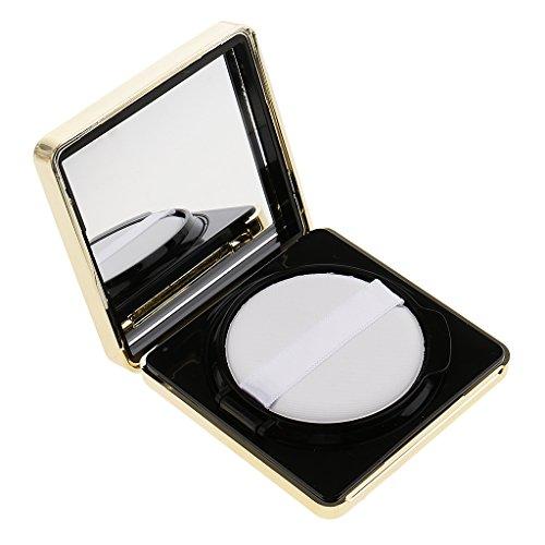 Fenteer Vide Luxe Récipient de Coussin d'Air Vide Boîte Carré de Pouf de Poudre Fondation Pour DIY BB/CC - Noir