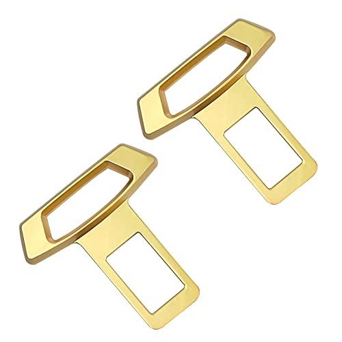 Zhihui 2 Hebillas de cinturón de Seguridad de automóvil, Extensores de cinturón de Seguridad de Metal, Clips antioxidantes Altamente compatibles Enchufes de extensión de cinturón de