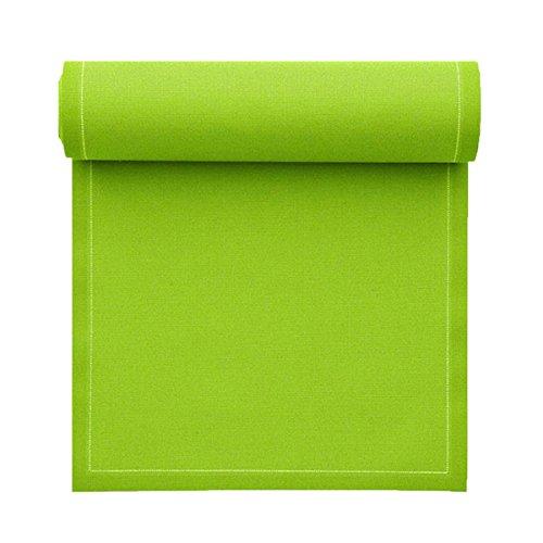 Serviette de table en coton 32x32cm - Rouleau de 12 serviettes - Pistache