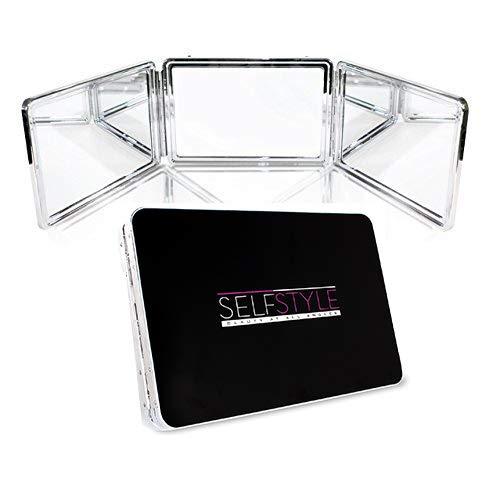 Système Self Style - Miroir à 3 voies avec supports à hauteur réglable. Miroir de courtoisie pour le maquillage, la coiffure, la coloration, la coupe et le toilettage