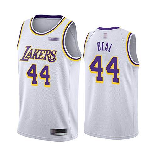 XXJJ Lakers Beal - Camiseta de baloncesto para hombre, 44, color blanco 2020-21 City Edition (S-XXL), secado rápido, sin mangas, de malla, color blanco