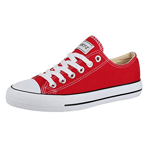 Elara Sneaker Unisex Basse Scarpe da Ginnastica Tessile Chunkyrayan Rosso 01-A-42-Red