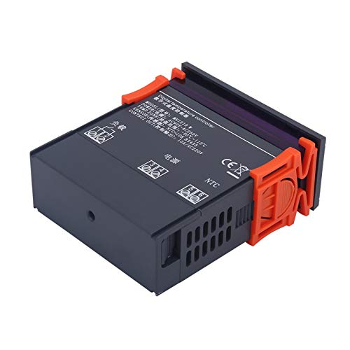 DAUERHAFT Inicio diferido Mini Pantalla LCD Controlador de Temperatura Digital Resistente a la corrosión Calibración de Temperatura Vida útil Prolongada, para refrigeradores
