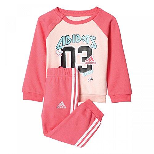 adidas Kinder I Sp Terry Jog Trainingsanzug, Pink/Roshel/Supros, Size 92