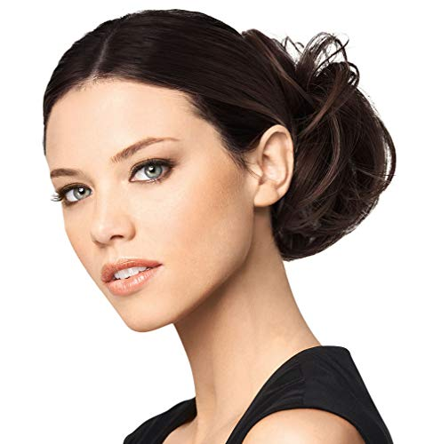 Modern Chignon Color R6 DARK CHOCOLATE - Hairdo Extensions Claw Clip Loose Hair Bun Tru2Life Heat Friendly Synthetic Soft Waves Hairpiece