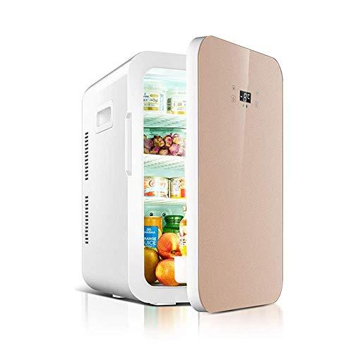 WMG& Mini Kühlschrank Kühler und wärmer 22L Kapazität | kompakt, tragbar und leise | Kompatibilität mit Wechselstrom und Gleichstrom,Flesh