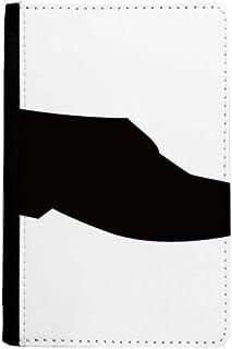beatChong Negro Zapatos De Cuero del Monedero De Tarjeta Caso De La Cubierta Cartera De Viaje De Pasaporte De La Silueta D...