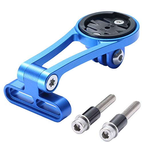 Dymoece - Soporte de Bicicleta para Garmin Edge 25 130 200 500 510 520 800 810 820 1000 1030, cámara Gopro e iluminación de Bicicleta, Color Azul
