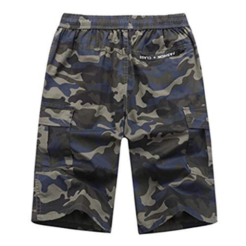 UFODB Herren Badeshorts Vintage Boardshorts Camouflage Schnelltrocknend Sommer Mit Taschen Moderne Männer Badehose Schwimmshorts Badeshort Bermuda Shorts Tarnhose