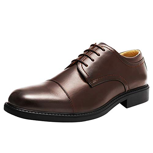 Bruno Marc Men's Downing-01 Dark Brown Leather Lined Dress Oxford Shoes Classic Lace Up Formal Size 11 M US