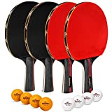 Best Ping Pong Paddles - Ping Pong Paddle Set of 4 Rackets Review