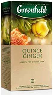 Greenfield Grüner Tee Quince Ginger 3er Pack 3 x 25 Teebeutel  Grüntee green tea