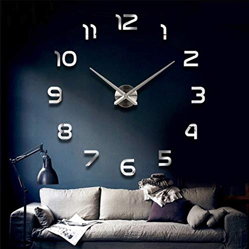 Reloj de Pared Wall Clock Various Styles of Indoor DIY Design Ornaments Modern Style Bedroom Decoration 27inch A
