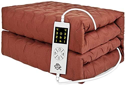 Mantas eléctricas para Manta, algodón Peinado Espeso Acolchado Suave y Lavable, Control con 4 configuraciones de Calor y temporización de 8 Horas, Control Dual de Temperatura Dual