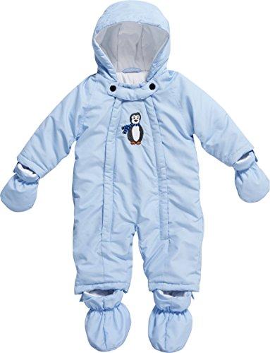 Playshoes Unisex - Baby Schneeanzug, Schneeoverall Pinguin, Gr. 74, Blau