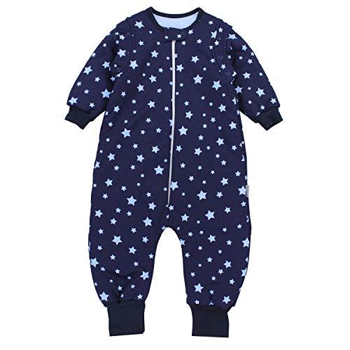 TupTam Baby Unisex Schlafsack mit Beinen und Ärmel Winter, Farbe: Sterne Blau/Dunkelblau, Größe: 92-98