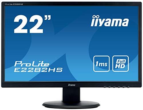 iiyama ProLite E2282HS-B1 54,7 cm LED-monitor Full-HD (VGA, DVI, HDMI) Niet in hoogte verstelbaar. 22 inch schwarz mit Lautsprecher