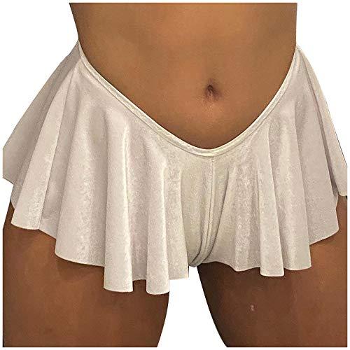 yayay Las Mujeres De La Moda De Color Puro Suelto Falda Corta Casual Dobladillo Pantalones De Falda Corta