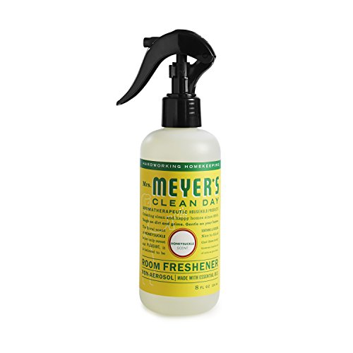Mrs. Meyer's Clean Day Room Freshener Spray, Instantly Freshens the Air with Honeysuckle Scent, 8 oz