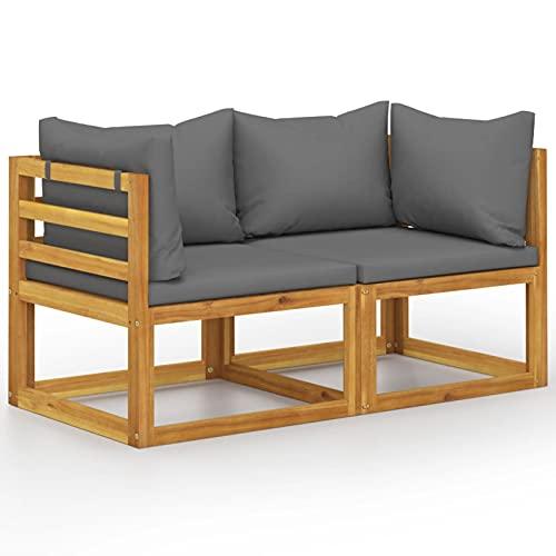 Festnight Balkonmöbel Holz Gartenbank 2 Sitzer Gartensofa Lounge Sofa Balkon Sofa Couch Sitzbank Outdoor Garten Gartenmöbel Set Loungemöbel...