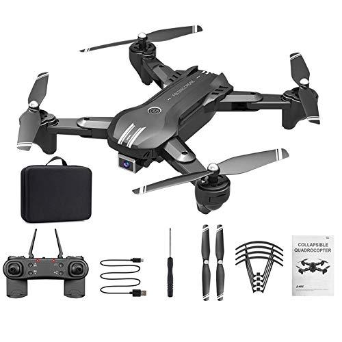 Control Remoto Quadcopter H168 RC Mini Drone 4K Cámara Dual de Alta definición WiFi FPV Fotografía aérea Helicóptero Plegable Quadcopter (cámara única + batería de Litio de Soporte incorporada)