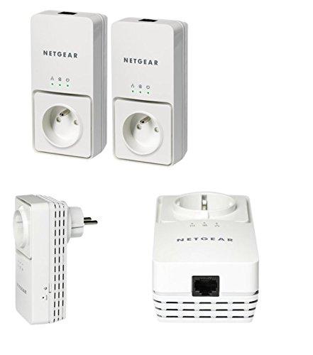 2 x Netgear Powerline Adapter 200Mbps Netzwerk Steckdose XAV2501 + Kabel