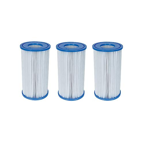 "Bestway 58012 Swimming Pool Filter Pump Replacement 4.2""x8"" Cartridge (3 Pack)"