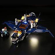Led Light Kit Set for Lego 76126 Marvel Avengers Ultimate Quinjet Plane Building Kit (Not Include Le...
