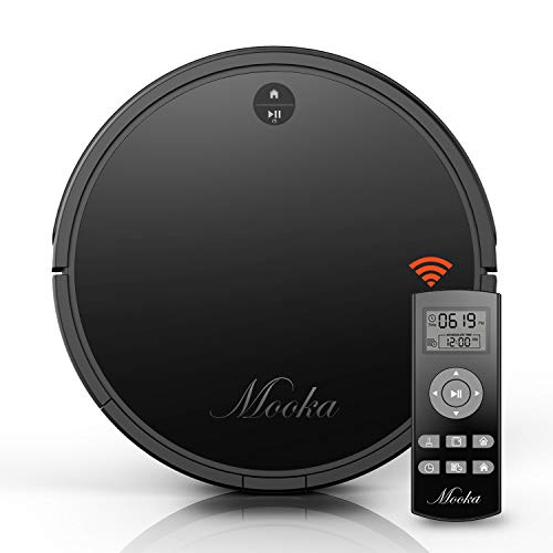 Robot Vacuum Cleaner, Mooka Auto Robotic Vacuum Cleaner with Powerful Suction, Self-Charging, Ultra...