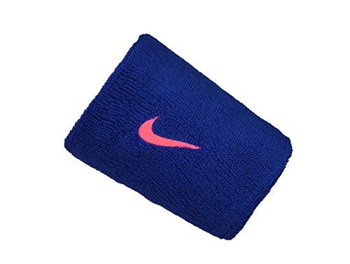 Nike Unisex– Erwachsene Swoosh Doublewide Schweißbänder, rot/grau, OS