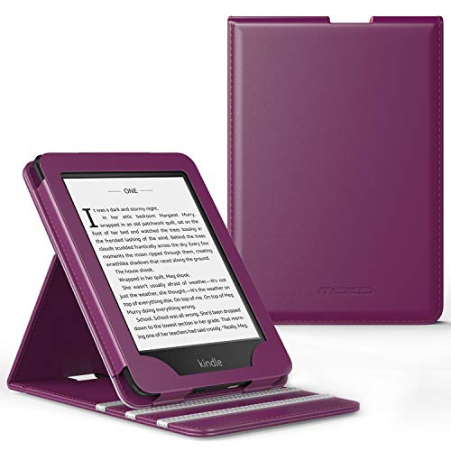 MoKo Case Fits Kindle Paperwhite (10th Generation, 2018 Releases), Premium Vertical Flip Cover with Auto Wake/Sleep Compatible for Amazon Kindle Paperwhite 2018 E-Reader - Purple