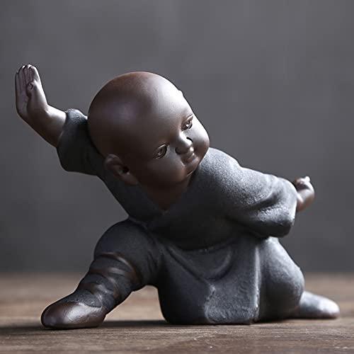 Cutfouwe Buda Kung Fu Tea Bandeja de Mesa Objetos Decoracion Modernos, Buda...