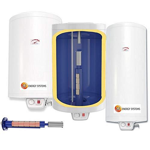 Elektro Warmwasserspeicher Boiler mit verschleißfreiem Keramikheizstab, wandhängender Boiler in den Größen 50 80 100 120 150 200 L Liter 2-2,2 kW 230 Volt